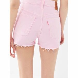 Levi's High Waisted Denim Short